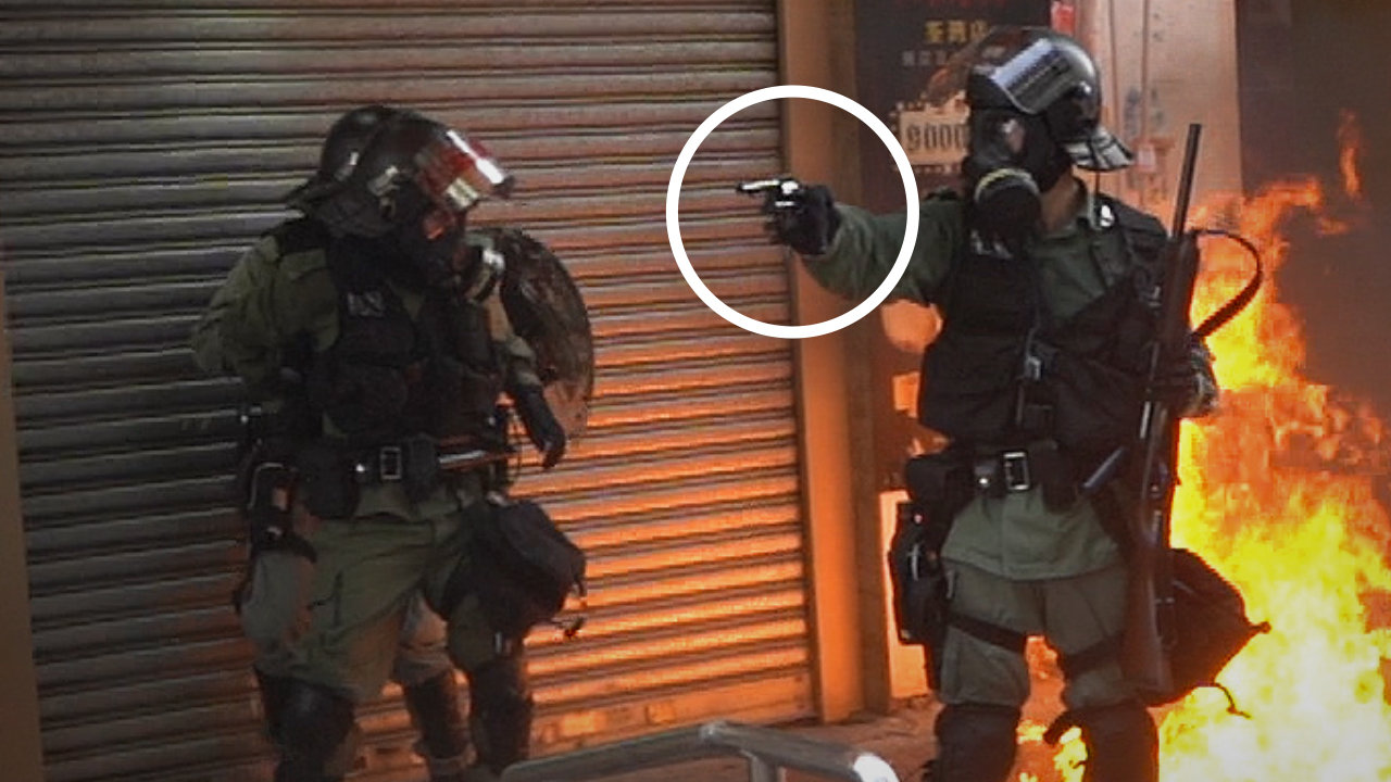 Hong Kong Police is Shooting Protesters at Point Blank Range