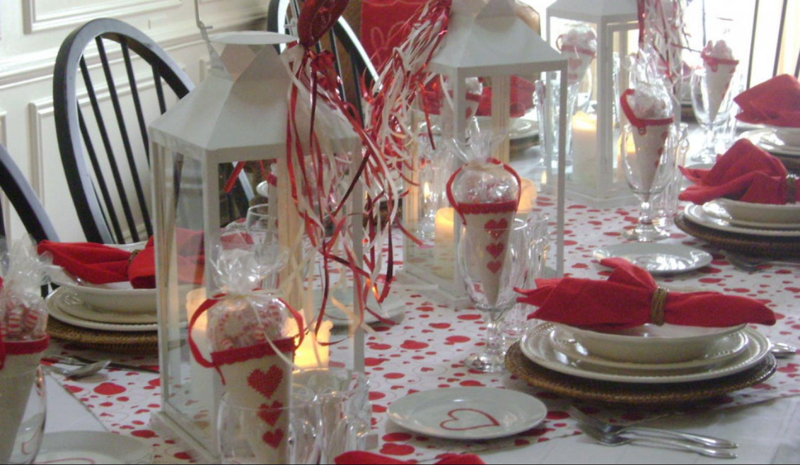 Source Homemydesign The Red Valentine S Day Table Setting