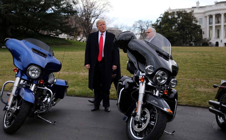 Trump Supports Harley-Davidson Boycott