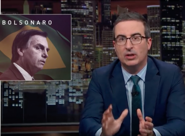 "John Oliver Comments on Brazilian Elections: ""Anything is better than Bolsonaro"""