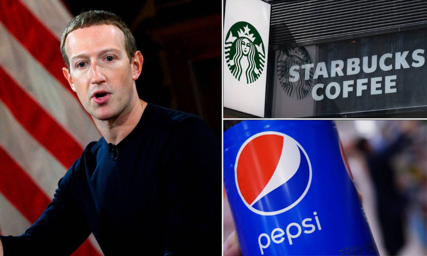 Many advertisers halted marketing campaigns on the social media giant. Source: Daily Mail