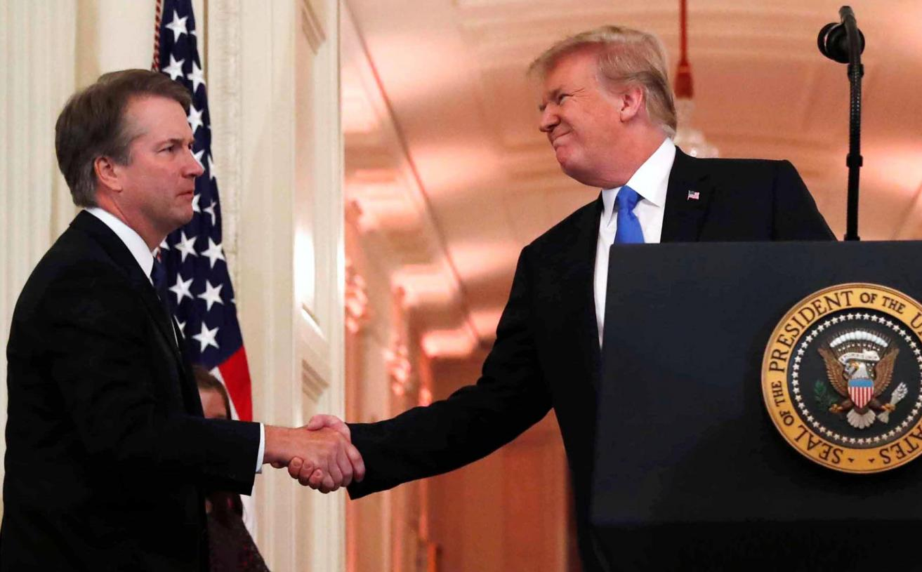 Trump Says Senate Should Get on with the Kavanaugh Hearing