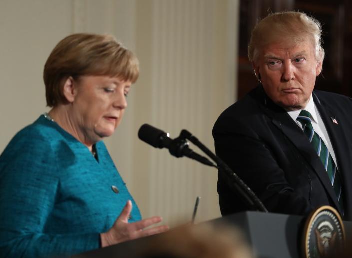 Trump Fires Back At Merkel