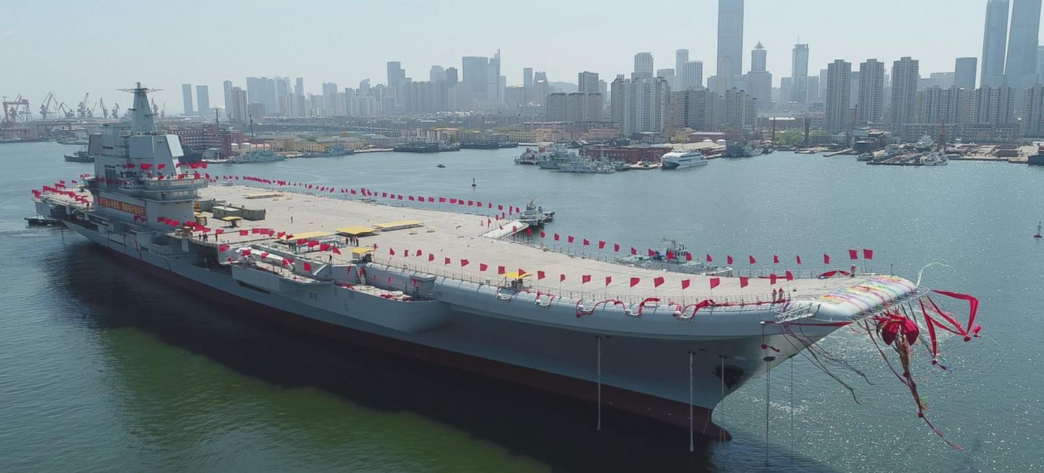 China's First Domestically Built Aircraft Carrier