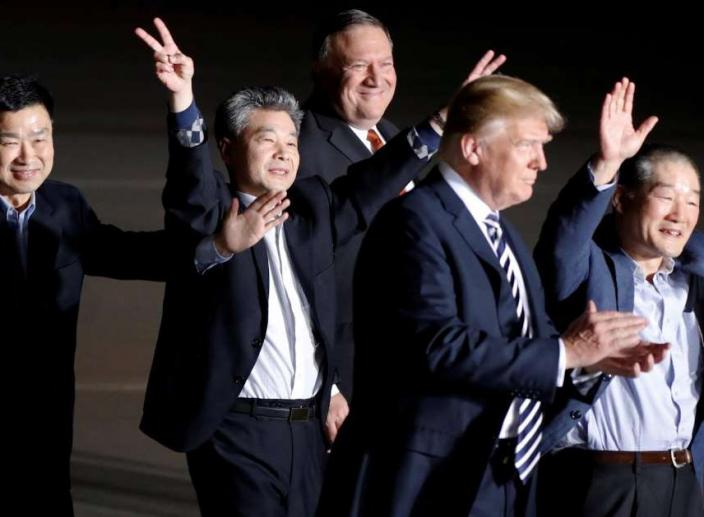 Trump Welcomes Home Three American Prisoners from North Korea