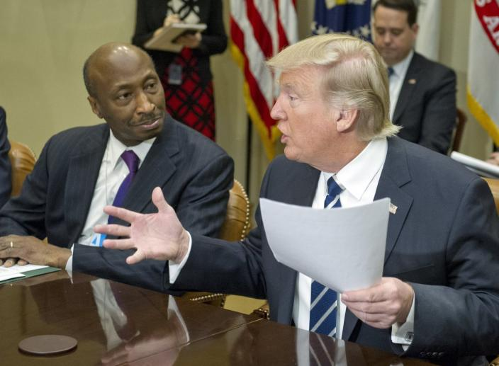 Trump Attacks Merck's CEO After He Quit The Manufacturing Council Over Charlottesville