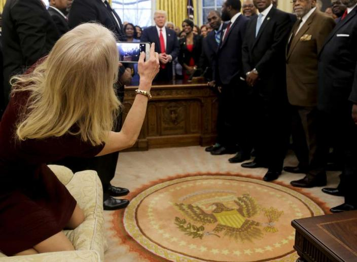 Kellyanne Conway's 'Disrespectful' Pose in the Oval Office