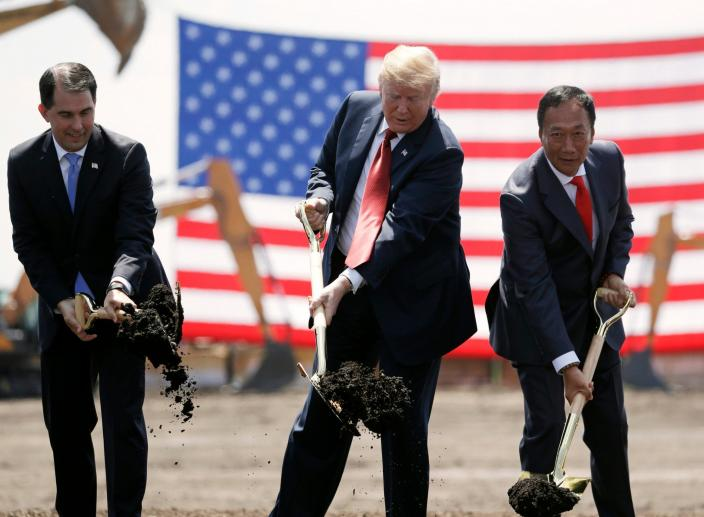 Foxconn Reconsiders Plans for $10bn Factory Announced by Trump