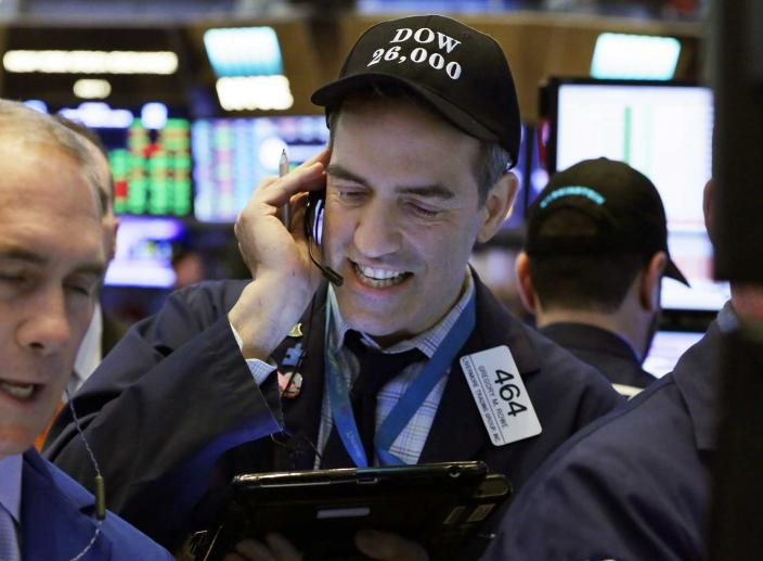 Tech and Industrial Stocks Lead Wall Street Higher While Banks Drop