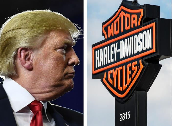 Trump Threatens Harley-Davidson with Taxes 'Like Never Before' If It Moves Production Overseas